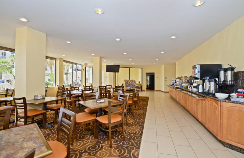 Dining at Daytona Beach Shores Hotel.