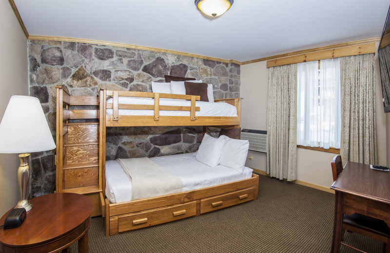 Bedroom in Wolf Jaw Suite Featuring Bunk Beds