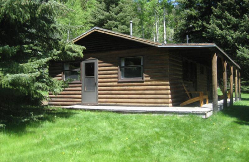 Cabin exterior at Trail Creek Ranch.