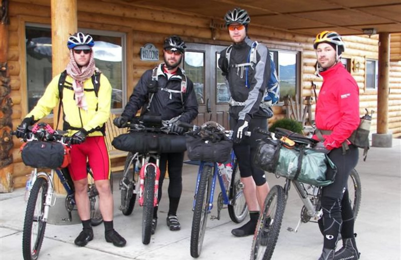Bike riders at Montana High Country Lodge.