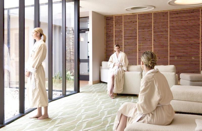 Spa lounge at La Torretta Lake Resort.