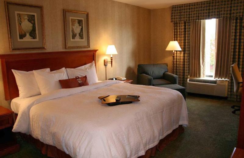Guest room at Hampton Inn Long Island-Brookhaven.