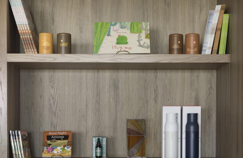 Shelf at Sky Rock Inn of Sedona.