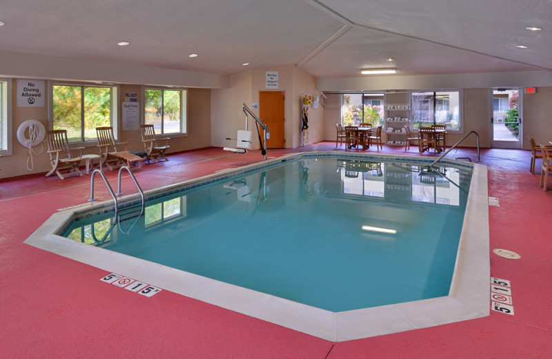 Indoor pool at Holiday Inn Express Hotel & Suites - St. Joseph.
