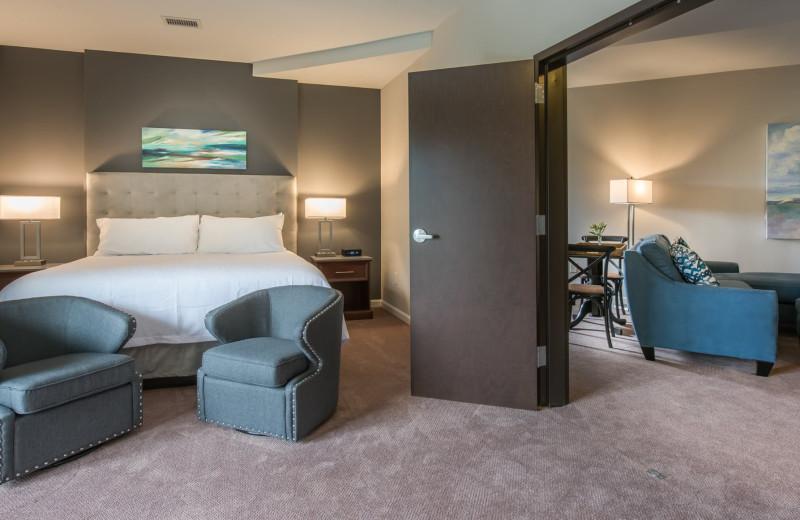 Guest room at Valhalla Resort Hotel.