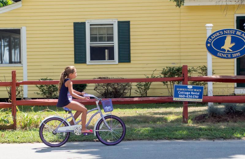 Biking at Hawk's Nest Beach.