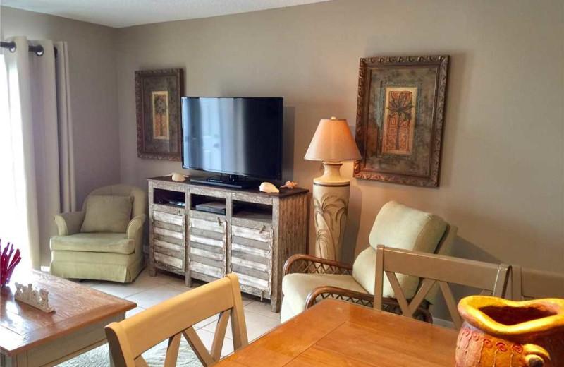Rental living room at Gulf Shores Rentals.