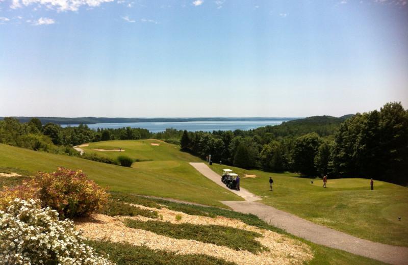 Antrim Dells golf course near Edgewater Inn on the Harbor.