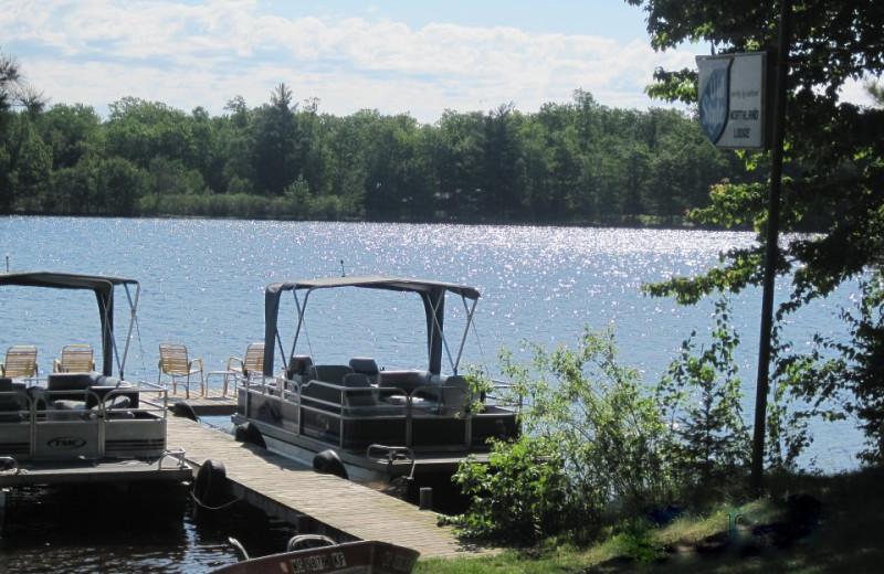 Boats at Northland Lodge.