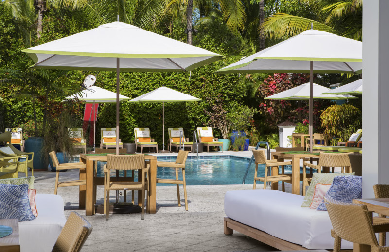 Patio at Parrot Key Resort.