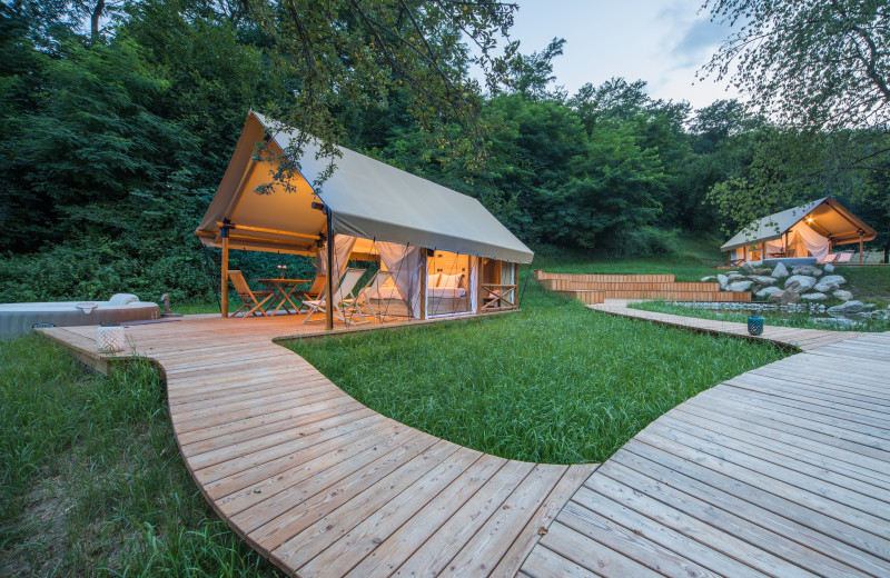 Exterior view of Chateau Ramšak Glamping Resort.