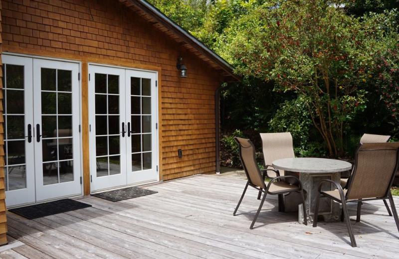 Rental porch at Redwood Coast Vacation Rentals
