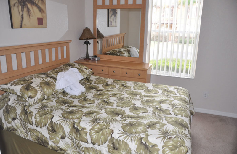 Rental bedroom at Sunkiss Villas.