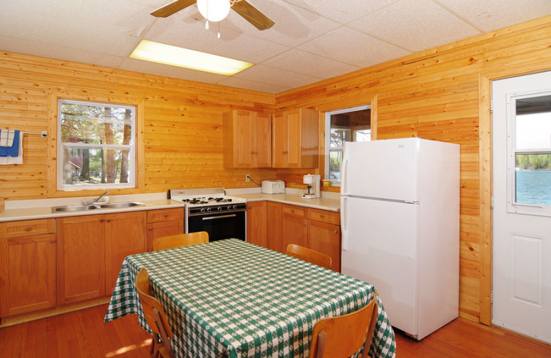 Guest kitchen at Whitefish Bay Camp.