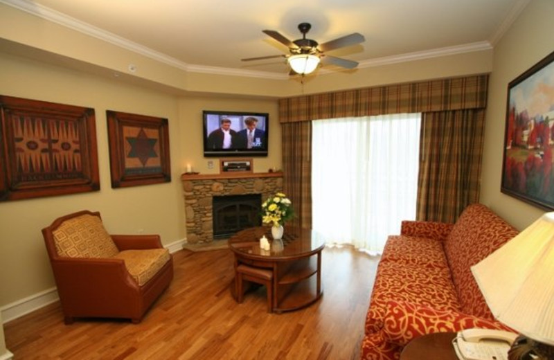 Suite living room at RiverStone Resort.