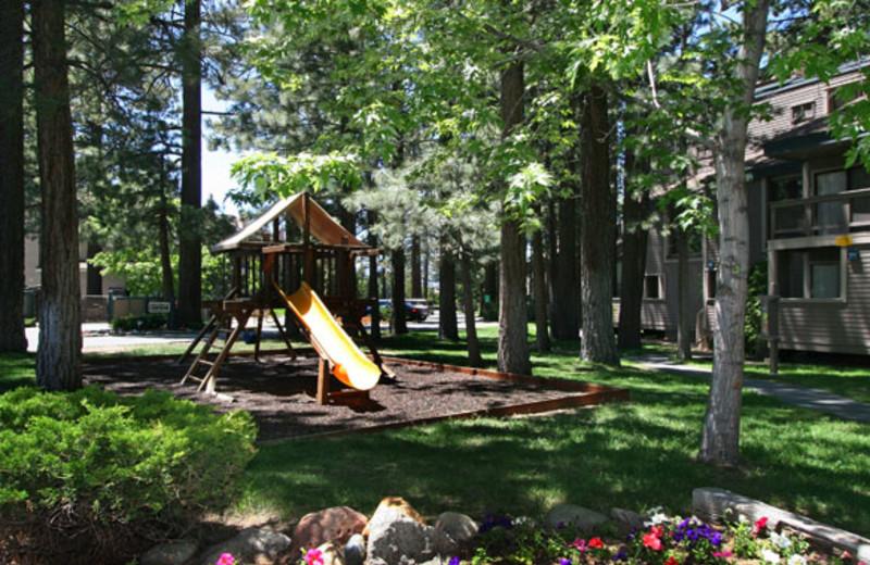 Playground area at Aston Lakeland Village.