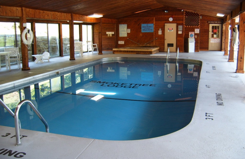 Indoor Pool at the Smoketree Lodge