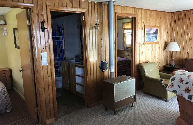 Cabin interior at Driftwood Resort.