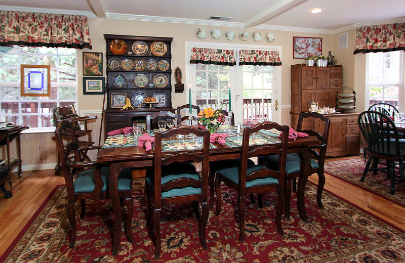 Dining room at McCaffrey House Bed and Breakfast.