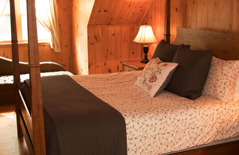 Chalet bedroom at Fiddler Lake Resort.