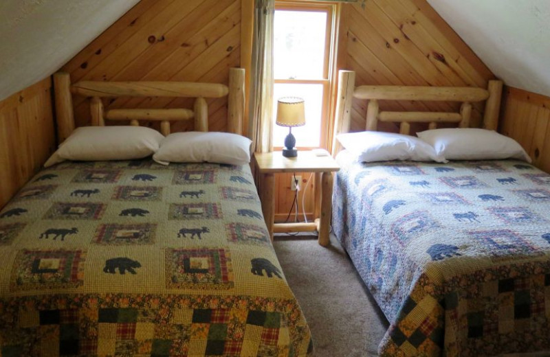 Guest room at Sleeping Bear Resort.