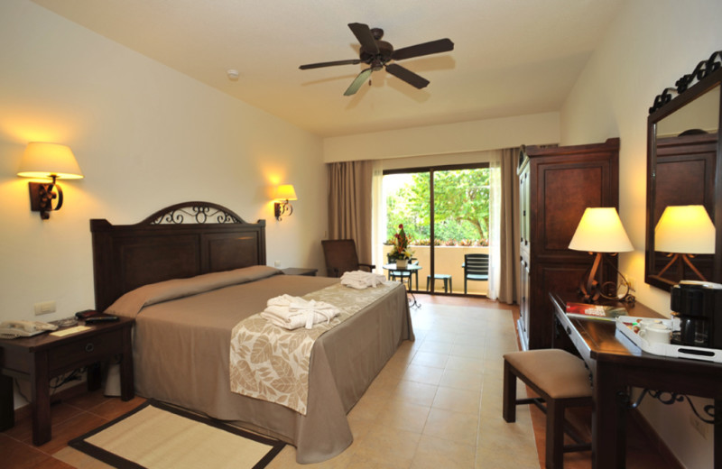 Guest room at Occidental Grand Xcaret.