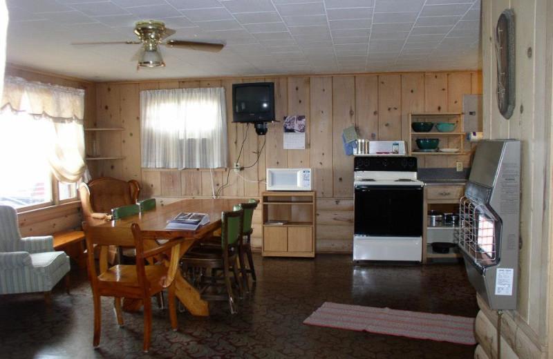 Cabin interior at Four Seasons Resort.
