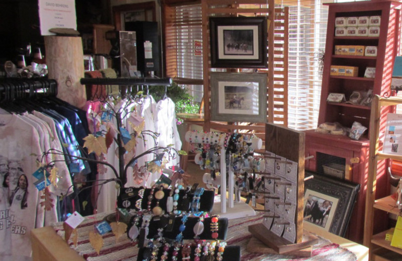 Gift shop at High Country Guest Ranch.