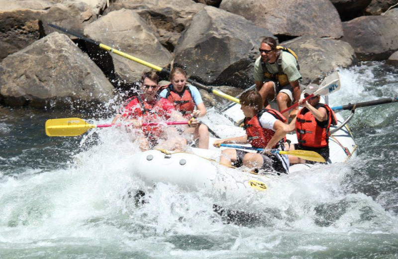River rafting at Bear Paw Lodge.