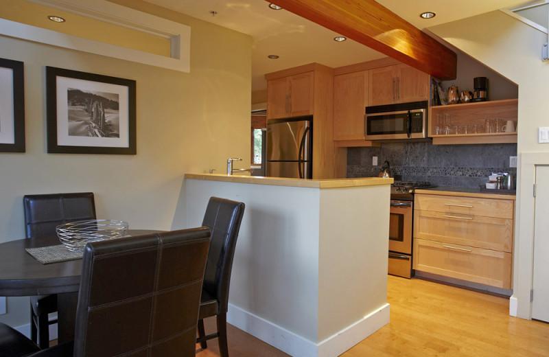 Kitchen at Cox Bay Beach Resort.