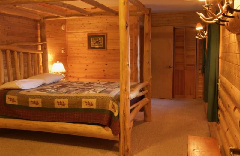 Guest bedroom at Sleeping Bear Resort.