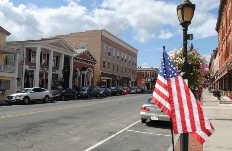 Town view at Black Swan Inn.