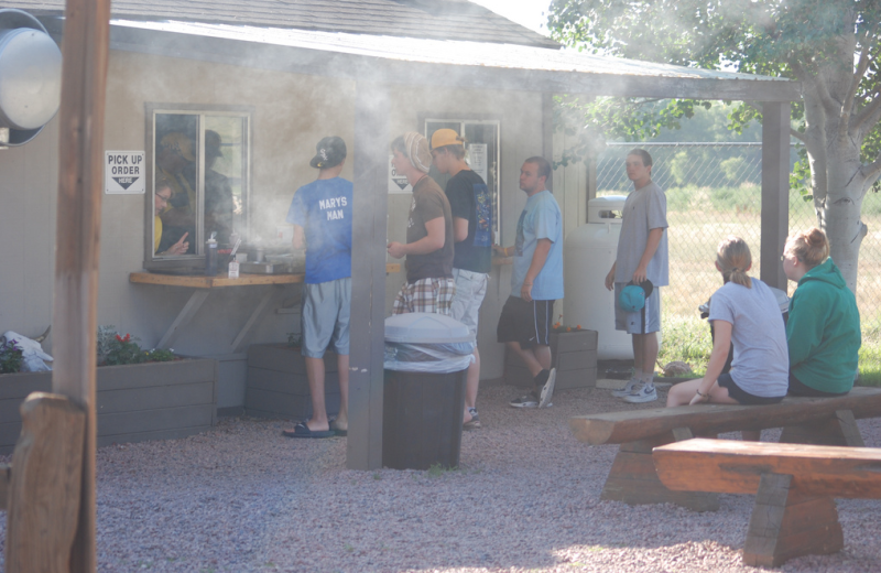 Outdoor grill at Colorado Springs KOA.