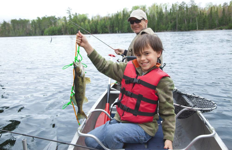 Fishing at Sand Lake Resort.