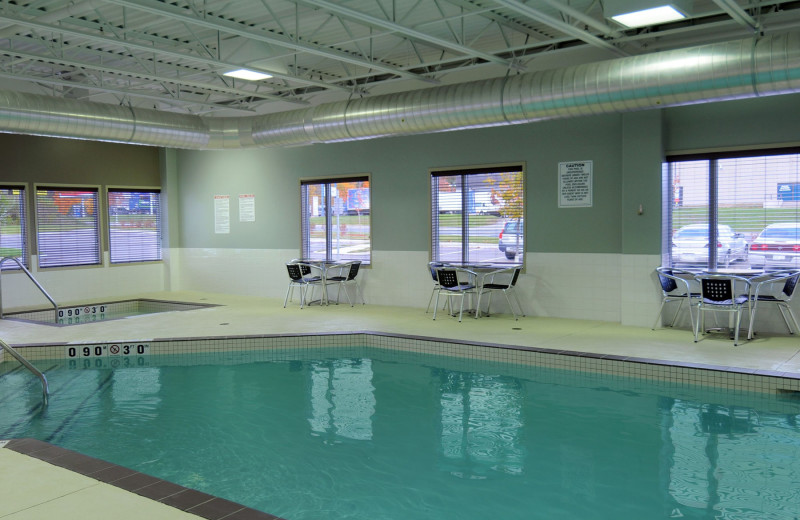 Indoor pool at Super 8 Peterborough Hotel.