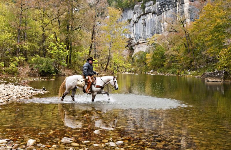 Horseback riding at Buffalo Outdoor Center.
