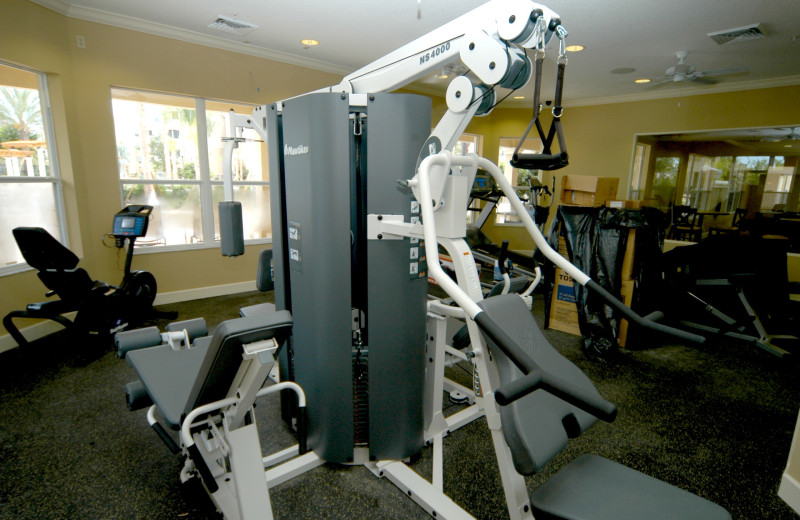 Fitness room at Elite Vacation Homes.