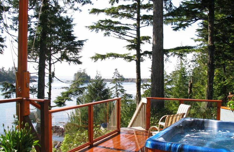 View at A Snug Harbour Inn.