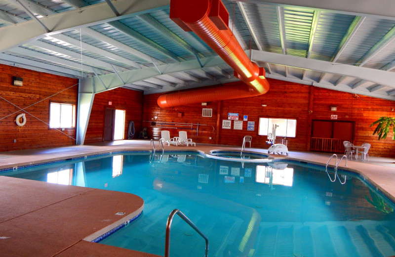 Indoor pool at Roundhouse Resort.