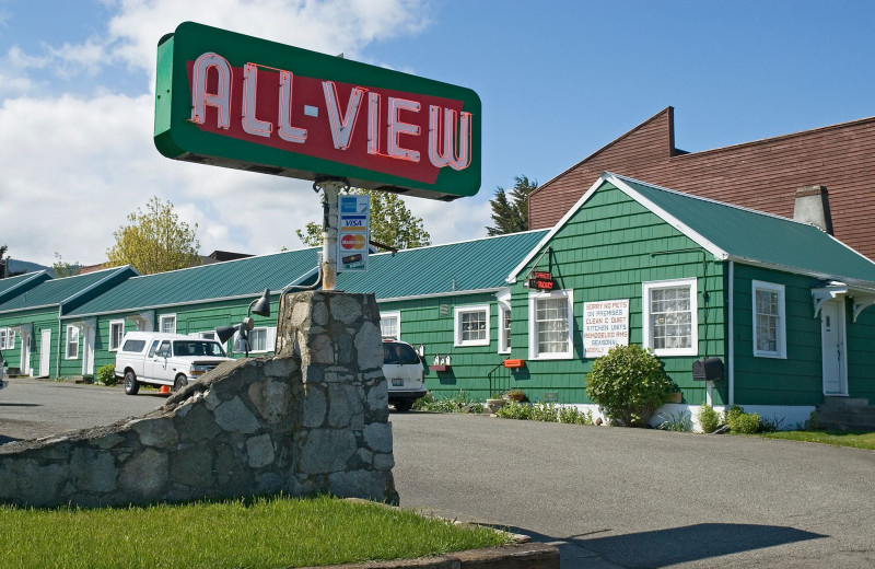 Exterior view of All View Motel.
