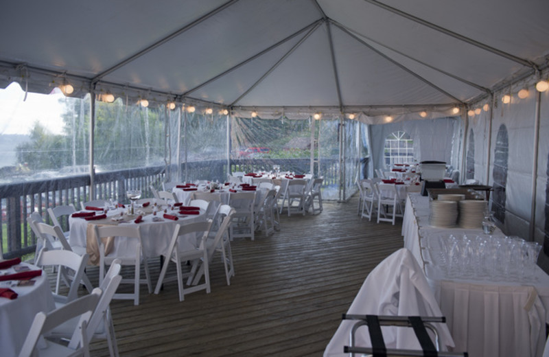 Wedding reception at Lutsen Resort on Lake Superior.