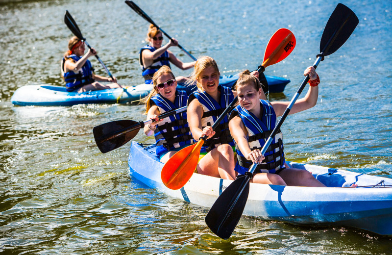 Fun on the water at RockRidge Canyon Camp & Conference Center