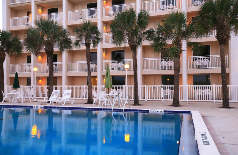 Pool area at Holiday Isle Oceanfront Resort.