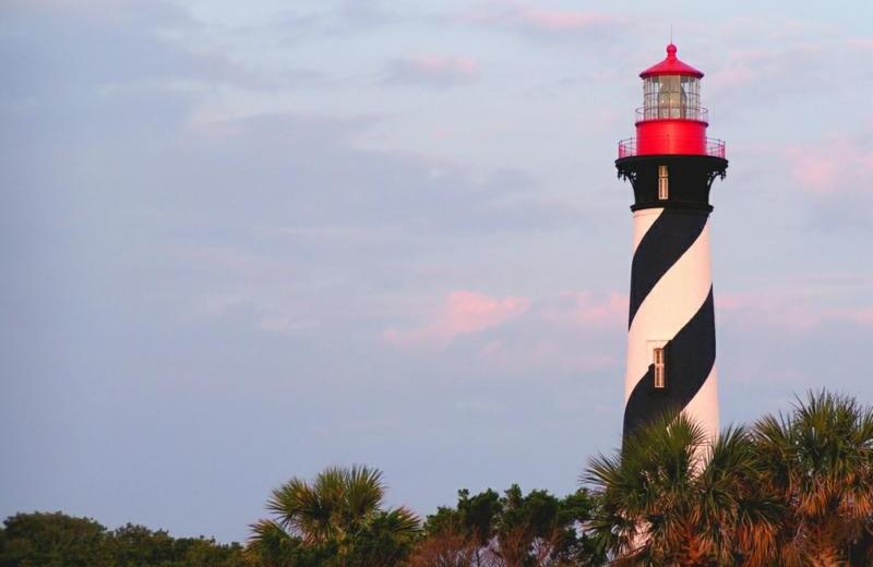 Lighthouse near St. Augustine Ocean & Racquet Resort.