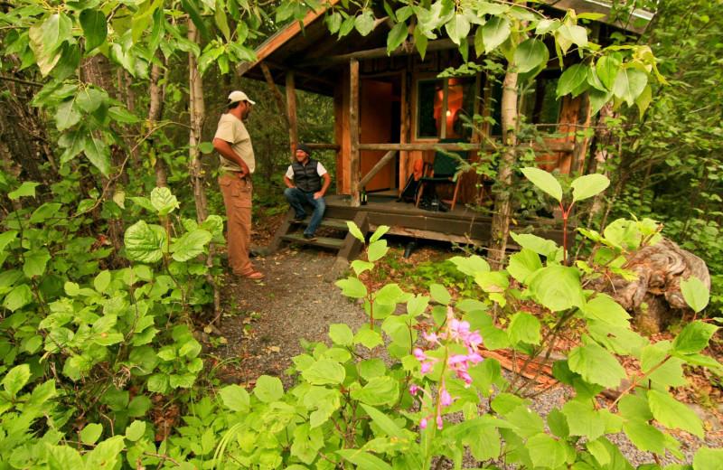 Cabin at Kenai Riverside Lodge.
