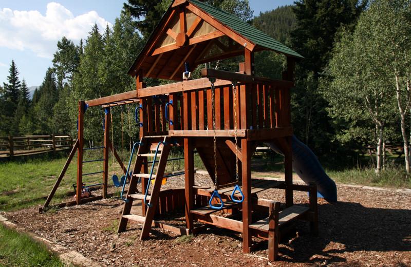 Playground at Tumbling River Ranch.