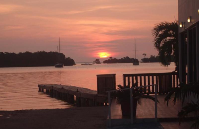 Sunset at Manatee Eco Resort.