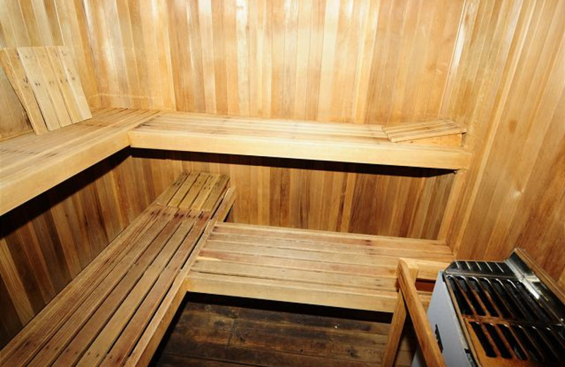 Rental sauna at Chalet Village.
