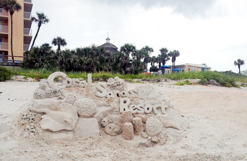 Beach sculpture at Coral Sands Oceanfront Resort.