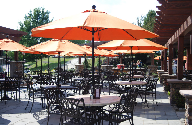 Patio furniture at Heritage Hills Golf Resort.
